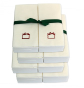 Disposable Guest Hand Towels with Ribbon - Embossed with a Red Gift - 200ct