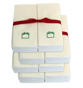 Disposable Guest Hand Towels with Ribbon - Embossed with a Green Gift - 200ct