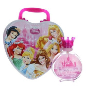 Disney Princess Magnificent Beauties by Air-Val International, 100ml Eau De Toilette Spray for Girls with Metal Lunch Box