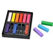 NEW DIY Non-toxic Temporary Hair Chalk Dye Soft Pastels Salon Kit 12 Short