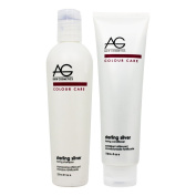 "AG Hair Colour Care Sterling Silver Toning Shampoo 240ml & Conditioner 180ml Duo ""Set"""