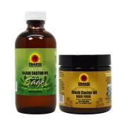 "Jamaican Black Castor Oil with Sage & Hair Food 120ml ""Set"""
