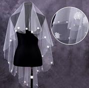 150cm Ivory Flower Dots Bridal Wedding Party Shower Head Veil for Bride