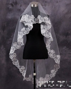 150cm Ivory Soft Yarn Bridal Wedding Party Shower Lace Head Veil for Bride
