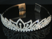 Wedding Crown, Bridal Tiara Rhinestone Crystal Crown C18