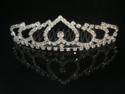 Wedding Crown, Bridal Tiara Rhinestone Crystal Crown C15