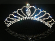 Wedding Crown, Bridal Tiara Rhinestone Crystal Crown C10
