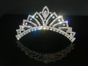 Wedding Crown, Bridal Tiara Rhinestone Crystal Crown C7