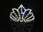 Wedding Crown, Bridal Tiara Rhinestone Crystal Crown C6