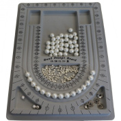 Plastic Bead Design Boards for Jewerly Making Necklace Bracelet DIY, Grey, Size