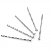 500pcs Silver Tone Stainless Steel Head Pins 0.6x17mm 23 gauge