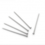 500pcs Silver Tone Stainless Steel Head Pins 0.7x20mm 21 gauge