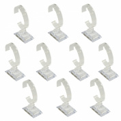 Clear Acrylic Watch Bracelet Bangle Stand for Jewellery Display, Pack of 10 Pcs