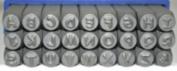 3mm Comic Sans Font Alphabet Punch Metal Letter Jewellery Stamp Set, 27 Pieces Including & , Combination Set