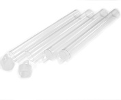 Clear Plastic Seed Bead Tubes with Caps 25 Pack - 5-inch, 16x125mm