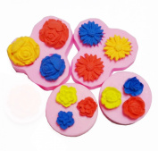 Flower Set Silicone Fondant Mould Chocolate Mould Cake Decorating Mould Candy Mould 0255