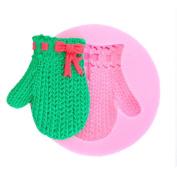 Christmas Glove Silicone Mould Fondant Sugar Craft Moulds DIY Cake Topper Decorating