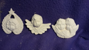 Victorian Angels ornaments set of 3