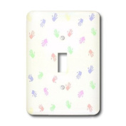 lsp_173863_1 Florene - Childrens Art III - image of pastel baby hand prints - Light Switch Covers - single toggle switch