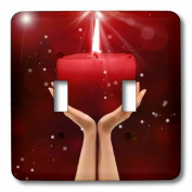 lsp_173004_2 Doreen Erhardt Inspirational - Beautiful hands holding a lit red candle quite inspirational. - Light Switch Covers - double toggle switch