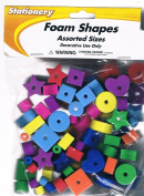 Bag of Foam Shapes, Craft Assortment, All Colours, Approximate #50
