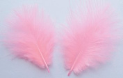 Candy Pink Turkey Marabou Craft Feathers - Mini Pkg