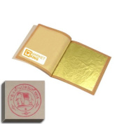 Edible Gold Leaf Sheets 10 Leaves 24 Karat Ss-size 2cm X 2cm Genuine Authentic for Foods, Cakes & Chocolates, Decoration, Health & Beauty, Home Arts & Crafts, Metal Working, Marketking Brand