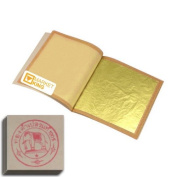 Edible Gold Leaf Sheets 10 Leaves 24 Karat S-size 2.5cm X 2.5cm Genuine Authentic for Foods, Cakes & Chocolates, Decoration, Health & Beauty, Home Arts & Crafts, Metal Working