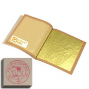 Edible Gold Leaf Sheets 50 Leaves 24 Karat 3.6cm X 3.6cm Genuine Authentic for Cakes & Chocolates, Face Spa, Decoration