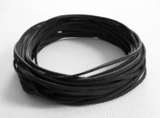 BLACK 3mm x 1.5mm Faux Suede Cord Leather Lace Bracelet Necklace Making