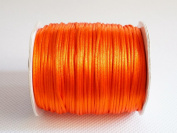 ORANGE 1mm Bugtail Satin Cord Shamballa Macrame Beading Nylon Kumihimo String