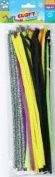 "50 x Kids Mixed Colours Glitter Chenille Pipe Cleaners Stems Art Craft 12"" 30cm"