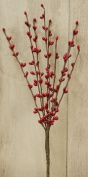 Red Pip Berry Pick Branch Country Primitive Floral Holiday Décor