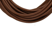 Full-grain leather cord, 3mm round dark brown 5 yard