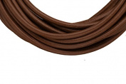 Full-grain leather cord, 3mm round dark brown 5 yard