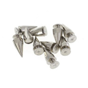TOOGOO(R) 10pcs Cone Spikes Screw Fixed Studs for DIY Craft Leathercraft