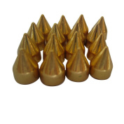 Tangpan 100pcs Bullet Cone Punk Spikes Screwback Metal Studs DIY Leathercraft Rivet