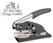 ExcelMark Hand Held Monogram Address Gift Embosser - Style 21