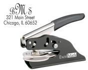 ExcelMark Hand Held Monogram Address Gift Embosser - Style 21
