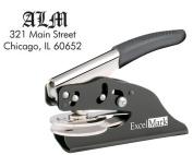 ExcelMark Hand Held Embosser - Monogram Address Desk Gift Embosser - Style 57