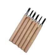 6 Pcs Set Wood Handle Carving Knife Tool Art For Clay, Ceramics, Sculpture Crafts