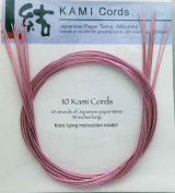 PINK MIZUHIKI - Package of 10 strands