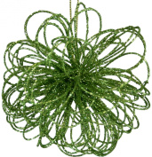 Green Flower Glittery Ornaments [H9242B]