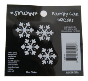 Snow - Loverly Christmas Holiday Family Car Window Vinyl Decal Sticker
