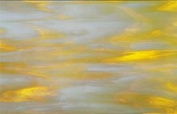 Uroboros Gold/yellow with White Streaky Stained Glass Sheet - 1 Piece 15cm X 30cm