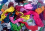 Wool off Cuts / Waste from Wool Tops, Merino Wool, British Wool, Natural Wool