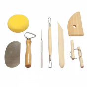 Pottery tools, carving tools, sculpture tools, 8 sets