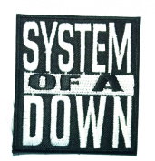 SYSTEM OF A DOWN AMERICAN ROCK Band Embroidered Iron Or Sew On Patch WITH FREE GIFT