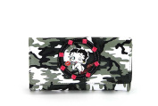 Betty Boop Camouflage Wallet with Metal Studs, BQ880CMN