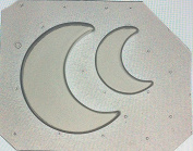 Flexible Resin Mould Set of 2 Half / Crescent Moon Large & Small